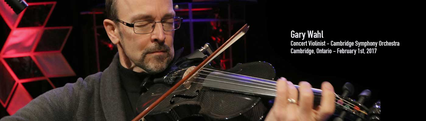Gary Wahl performs on  the Gayford Carbon Fiber Strad Violin