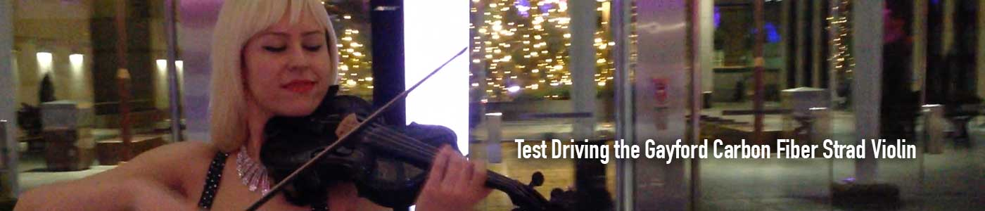 Stephanie Hutka test drives the Gayford Carbon Fiber Violin