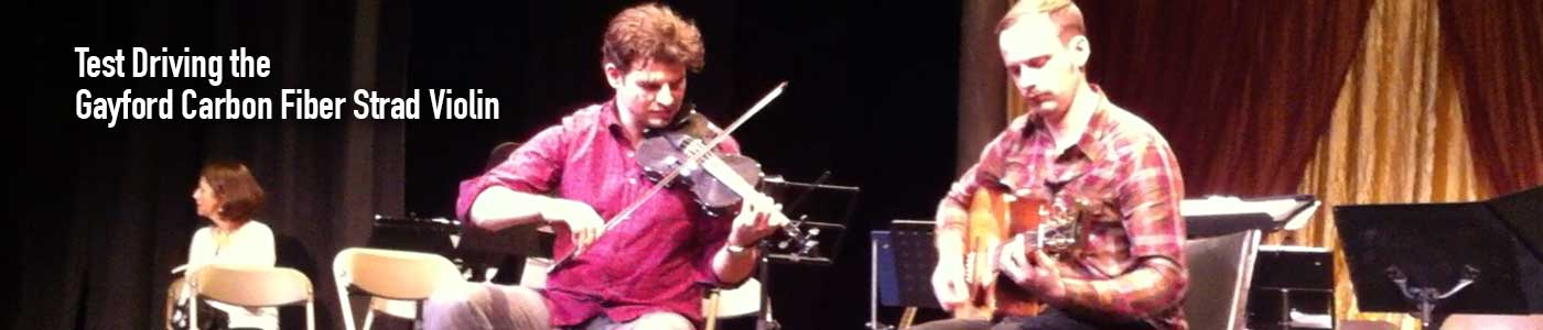 Shane Cook test drives the Gayford Carbon Fiber Violin