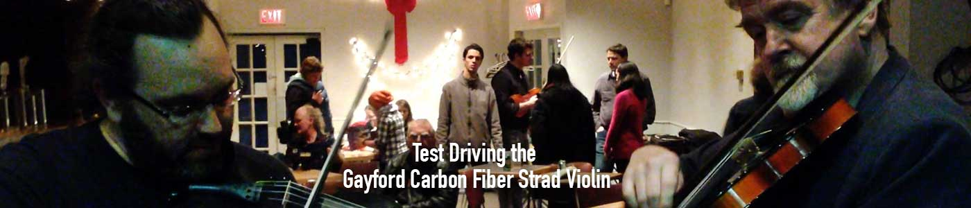 James Stephens test drives the Gayford Carbon Fiber Violin